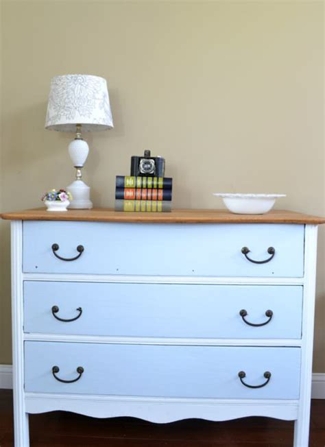 White Dresser With Wood Top by Two Toned Dresser With Wood Top Refresh Living