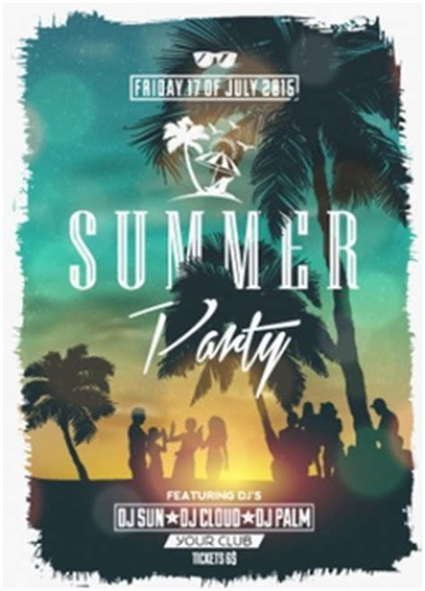 design poster for party summer party vectors photos and psd files free download