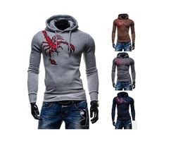Baju Sweater Wanita Blue Leisure Hoohded L Murah Original c30 sweater lelaki corak kala jengking unik scorpion hooded sweater dcp8316 dopcip