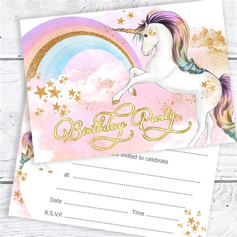 pink girls party invitations amazon co uk kitchen home