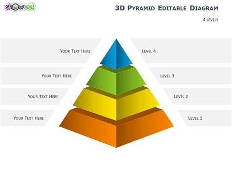 3d Pyramid Template 3d pyramid diagrams for powerpoint