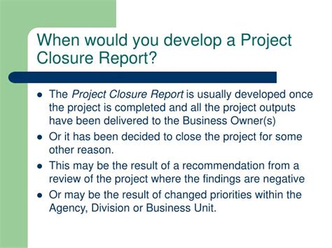 project closure report template ppt ppt project closure report powerpoint presentation id 2399781