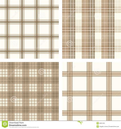 pattern check meaning seamless beige checked pattern set stock photos image