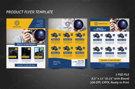 product flyer templates printable psd ai vector