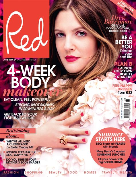Drews A Cover by Drew Barrymore Magazine Uk June 2014 Cover
