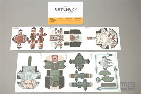 Witcher 2 Papercraft - the witcher 2 assassins of collector s edition