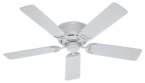 low profile ceiling fan no light hunter 52 quot low profile iii ceiling fan 20803 in white