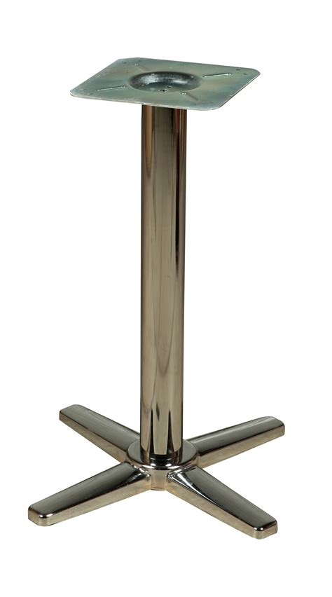 chrome plated cross table base os std cls restaurant