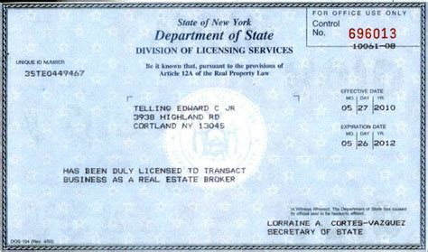license nyc new york state real estate brokers license