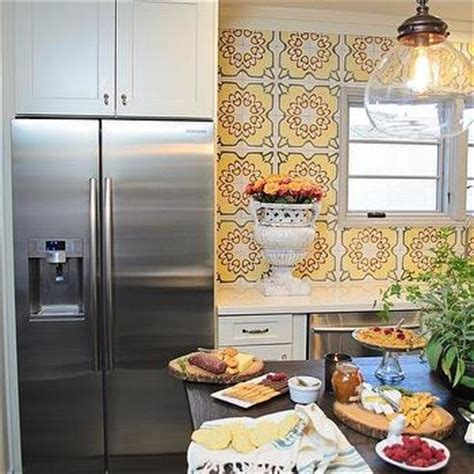 yellow backsplash kitchen yellow mosaic tiles contemporary kitchen brandon