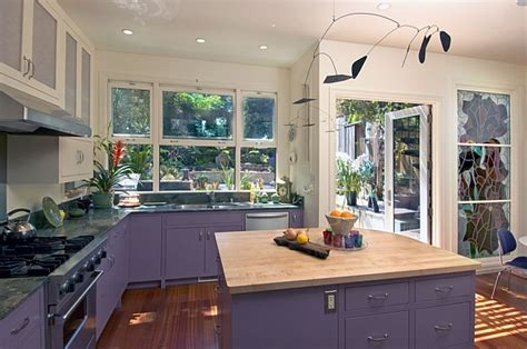 Purple Kitchen by Kitchen Cabinets The 9 Most Popular Colors To From