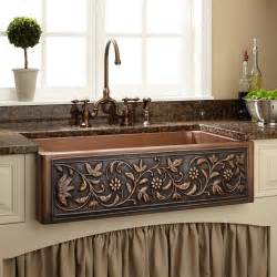 copper farmhouse kitchen sinks 36 quot vine design copper farmhouse sink farmhouse sinks