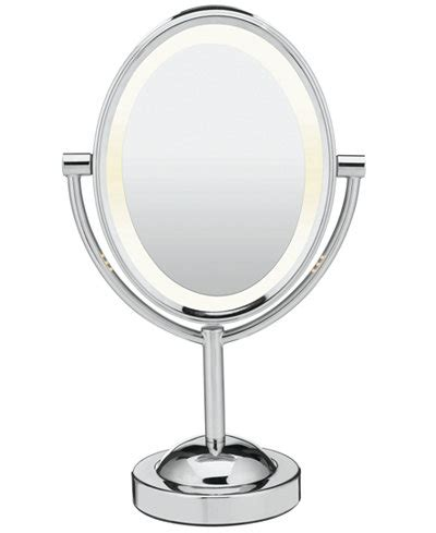 oval lighted makeup mirror conair oval polished chrome sided lighted makeup