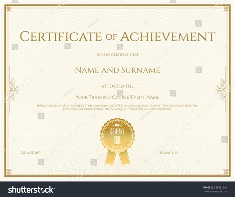 certificate templates vector certificate template vector achievement graduation