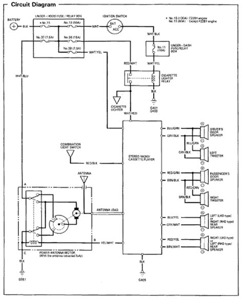 wiring diagram 1996 honda civic radio alexiustoday