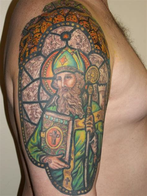 stained glass window tattoo st stained glass window picture