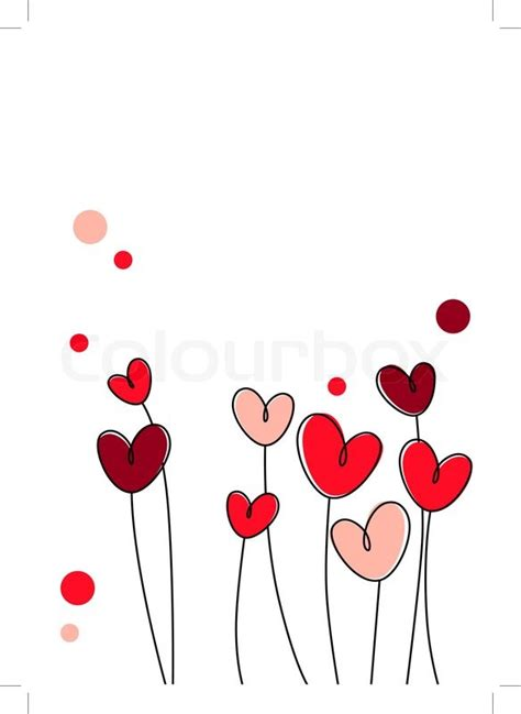 New Home Plans And Prices by Stylized Pink And Red Hearts On White Background Stock