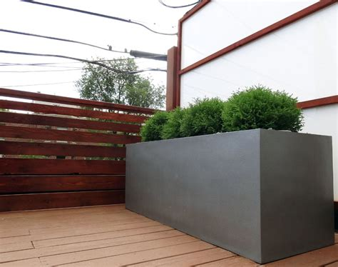Planter Inc Chicago by Roof Deck Privacy Screens Fiberglass Planters Yelp