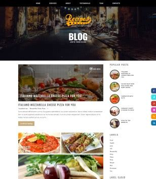recipe templates for blogger responsive recipes blogger template 2015 free themes