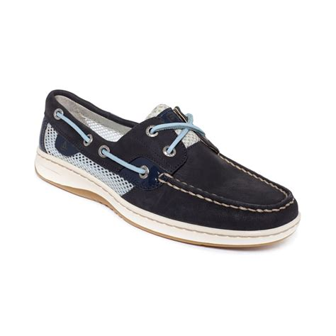 sperry shoes s lyst sperry top sider womens bluefish boat shoes in blue
