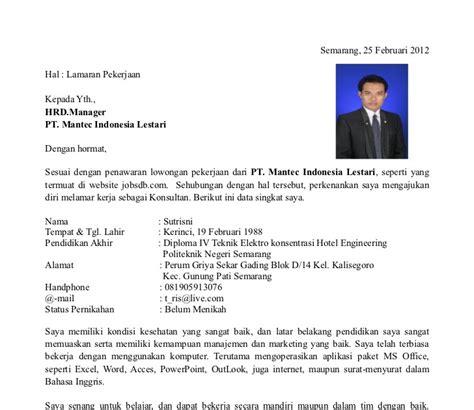Contoh Surat Lamaran Cpns Kemendikbud by Contoh Surat Lamaran Cpns Contoh Z