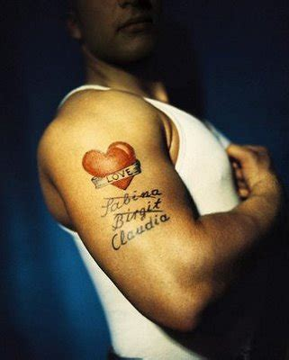 heart tattoos with names for men tattoos for