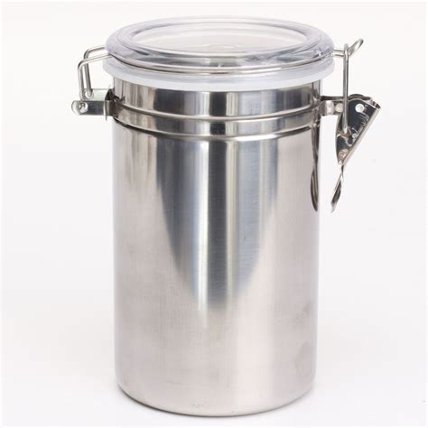 stainless steel airtight canister kitchen storage jars 1 4pcs airtight stainless steel canisters storage