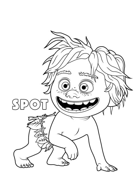 coloring page the good dinosaur the good dinosaur spot coloring pages kids coloring pages