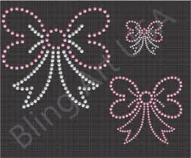 how to make rhinestone templates bows rhinestone downloads files ribbon patterns template