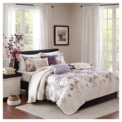 taupe coverlet king willow watercolor floral quilted coverlet set king