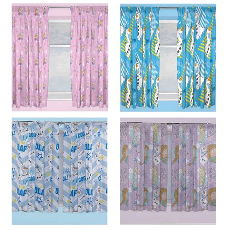 frozen curtains official disney frozen curtains in two drop lengths 54 quot or