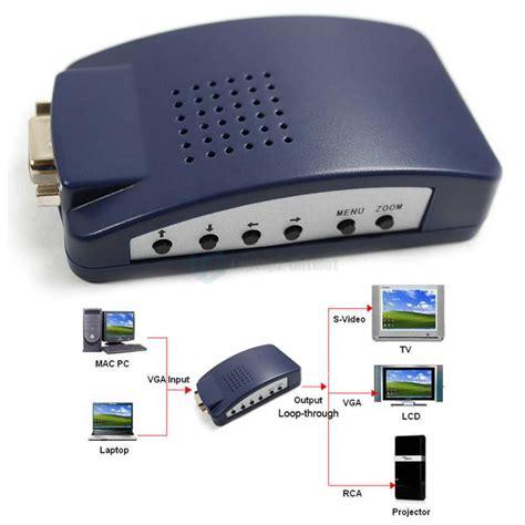 Vga Output pc vga input to tv av composite rca s vga output converter box usb power ebay