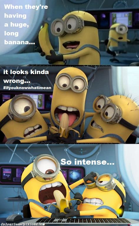 Minions Banana Meme - movie review despicable me 2 in 3d colourlessopinions com