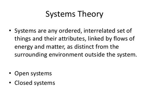 theory explained systems theory explained