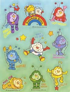 vintage 80 s hallmark rainbow brite characters sticker