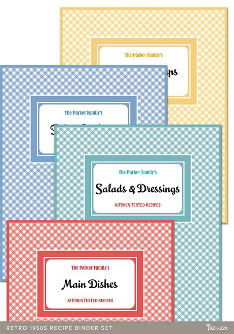 free recipe binder templates 6 best images of printable recipe binder templates free