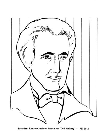 coloring pages with the name jackson activity sheets com andrew jackson was elected to be the 7th