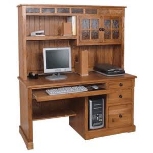 Wooden Computer Desk With Hutch Rustic Oak Computer Desk Oak Computer Desk Hutch