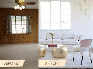 painting paneling before and after before after sarah s real world makeover design sponge