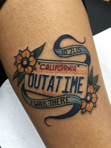 back to the future tattoo fuckyeahtattoos back to the future done by robert