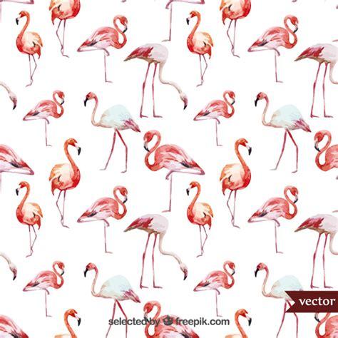 watercolor flamingos pattern vector free download watercolor flamingos vector free download