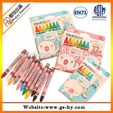 non toxic 4 pack mini colouring crayons for colored