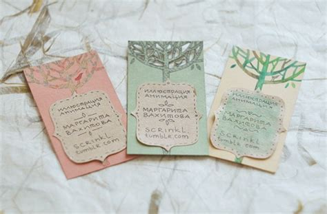 The Handcrafted Card Company - handmade business card designs creatives wall