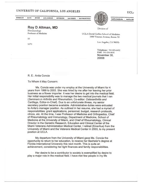 College Of William And Letter Of Recommendation Recommendation Letter From Dr Roy Altman