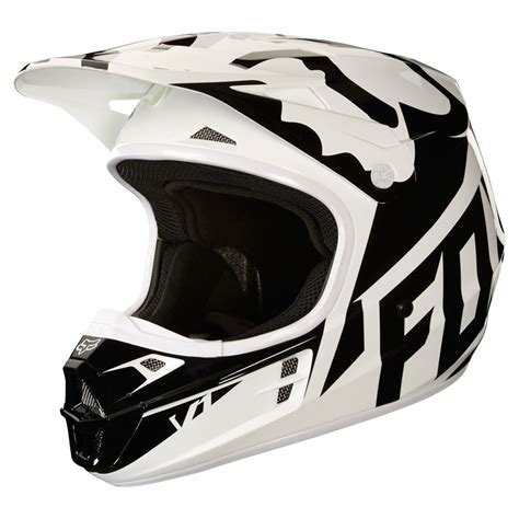 fox helmets motocross 2018 fox racing v1 race helmet white black green sixstar