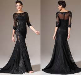 Black Evening Dresses With Sleeves Kzdress