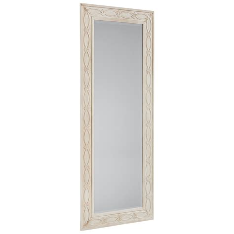 magnolia home by joanna gaines accent elements antique white zinc floor mirror olinde s