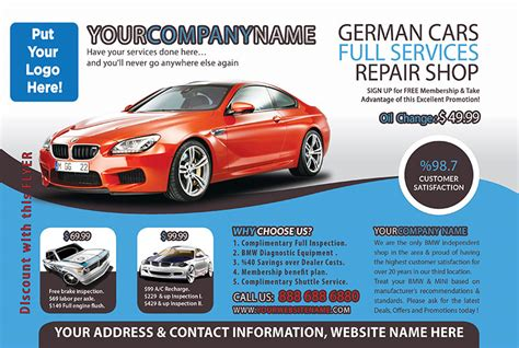 Car Service Post Card Template by 6 Best Images Of Business Cards And Flyers Design Tree