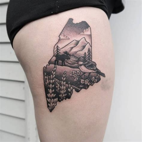 the maine tattoos best 25 lake ideas on scenery