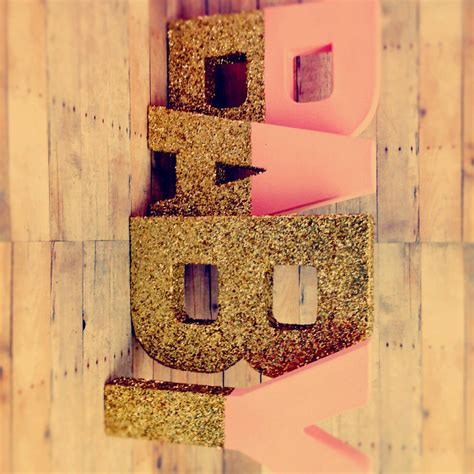 gold themes name glitter xl letters 16 pink and gold self standing large